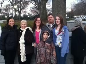 Kristine, Mary, Jennifer, Kevin, Madalyn and Derek