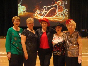 2012 Tea Quila Rose board: Terri D'Amico, Beth Houtz, Phyllis Novak, Linda Ferucci, Elaine Lies (not pictured is Sue Cianci)