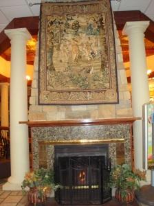 Fireplace at Biltmore Village McDonald's