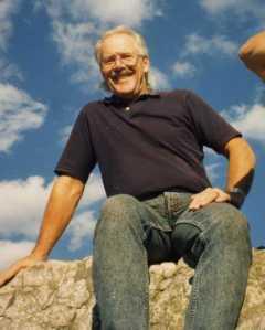 Bob enjoying the view from atop Seneca Rocks, West Va.