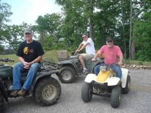 Bob, Randy and Barry four wheeling on Cole Mountain.