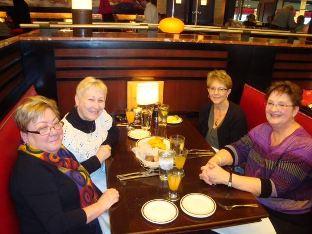 Lunch  at Carlyle Grand Cafe with friends..(from left) Maureen, me, Carol and Lois.