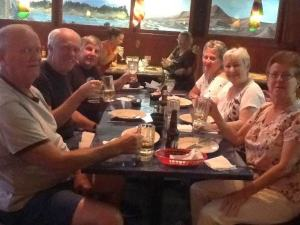 Clockwise (Bob, Randy, Dennis, Connie, Mary and Sandy) Enjoying a great dinner at El Rodeo Mexican Restaurant in Belleview.