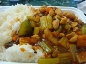 Kung Pao Chicken w/steamed rice