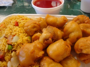 Sweet & Sour Chicken w/fried rice