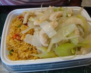 Chicken Chow Mein w/friend rice
