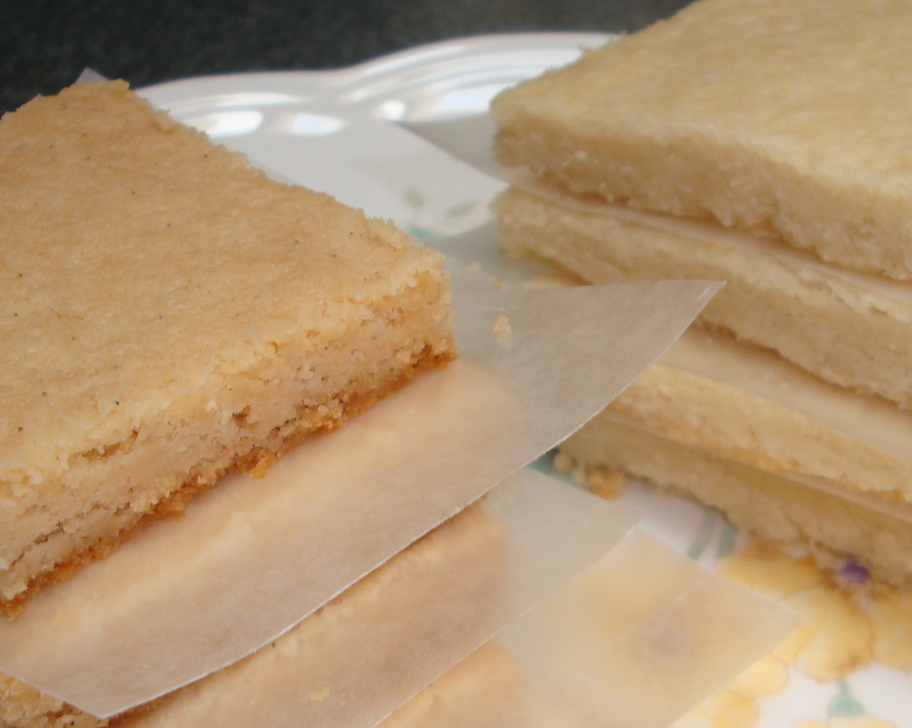 left) Cook Light Vanilla Bean Shortbread (right) Nana's shortbread