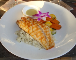 Red Snapper, rice and vegetables