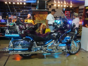 Look at all the LED lights on this bike!  Amazing