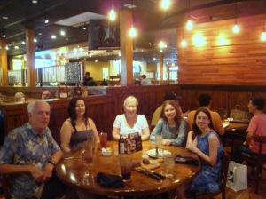 Randy, Kara, Me, Fiona and Lauren at Outback Steakhouse