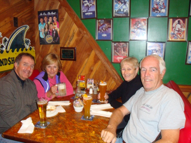 John, Lorrain, me and Randy enjoying a quick lunch at Mr. G's