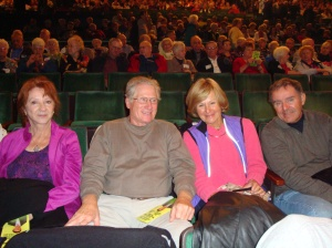 Jane Desouza, Brad Smith, Lorraine and John Morelli getting ready to enjoy the show.