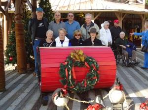Me, Randy, Lynn, Ken, Lorraine, John, Jane and Brad having fun on the landing before board the showboat.