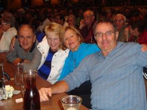 Dinner pals-John, Lorraine, Lynn and Ken
