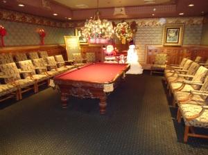 Pool table in the Gentlemen's room