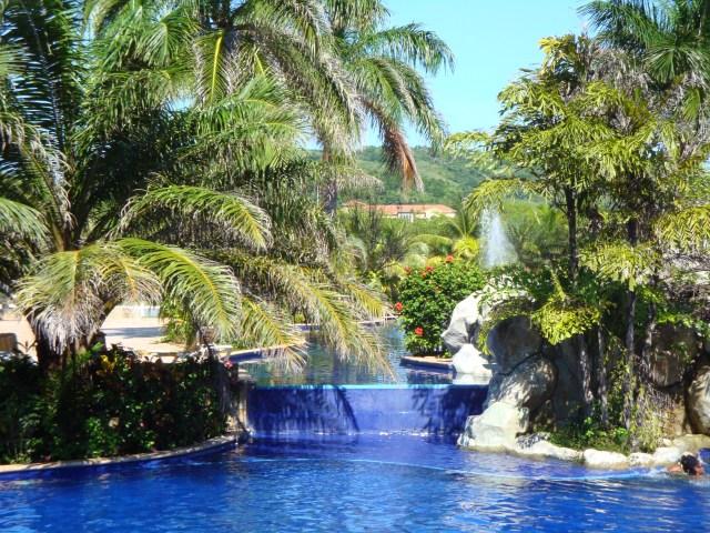 The lovely pools at Honduran resort.
