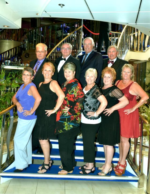 Top Row-Ron, Bob, Randy, Dennis--Bottom Row-Connie, Judy, Lucille, Mary, Patty, Connie