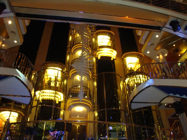Loved watching the lighted elevators rising and descending in the Grand Atrium