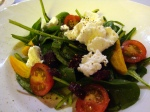 Marinated Goat's Cheese and Heirloom Tomato Salad with Opal Basil Vinaigrette