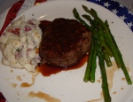 My favorite filet mignon, mashed potatoes and asparagus