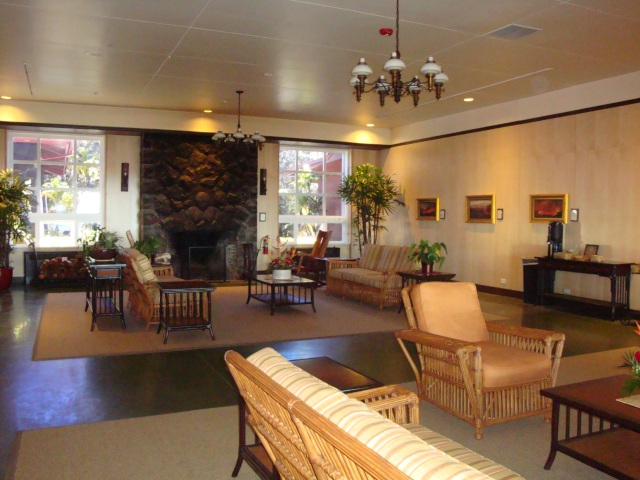 Lobby of the Volcano House