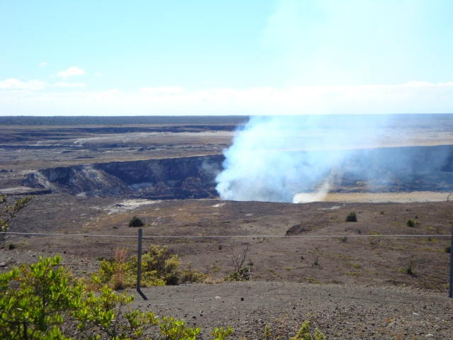 Kilauea Caldera as seen from Volcano House