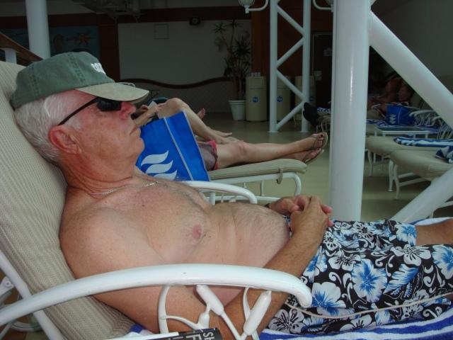 Enjoying lazy days at sea