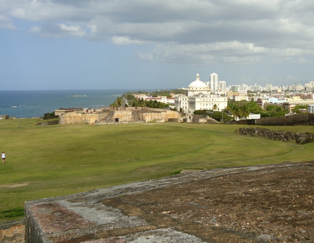 View of San Juan from atop of Castillo San Cristobal.