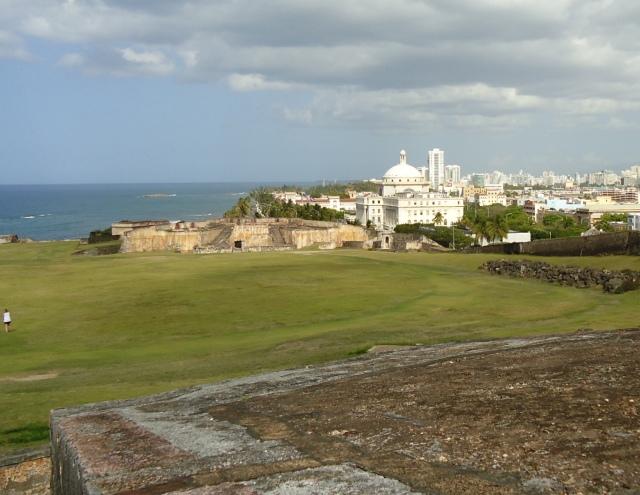 View of San Juan from atop of Castillo San Cristobal.