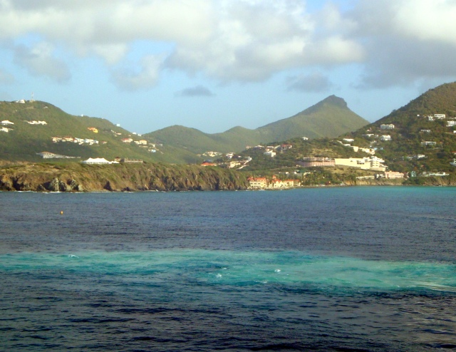 Entering the port of Phillipsburg, St. Maarten.