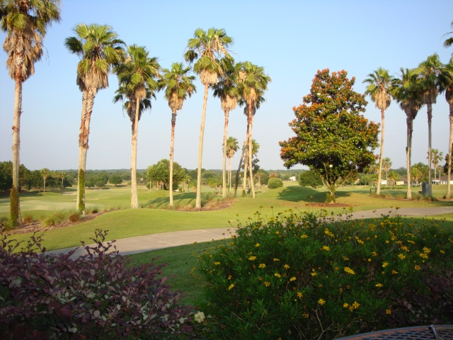 View of the golf course from Topper's Tavern patio