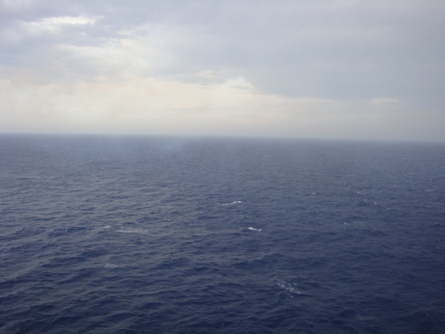 Rainy day in the Mediterranean