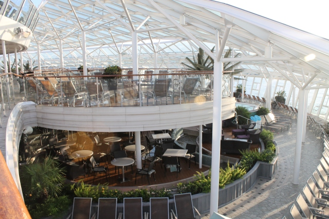 View of two decks at Solarium