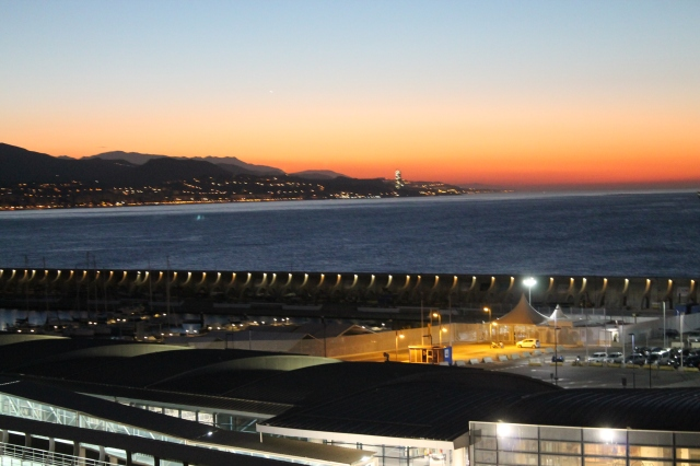 Early morning docking at Malaga.
