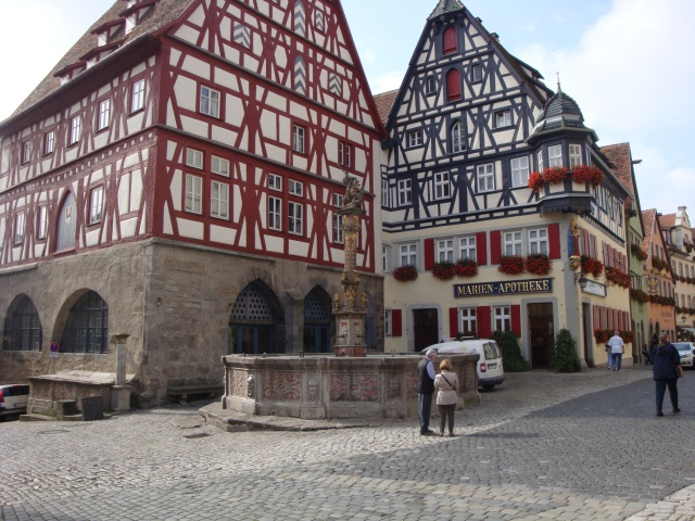 Beautiful example of timbered framed buildings