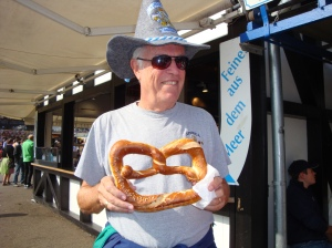 Of course, Randy had to have a pretzel before we left.