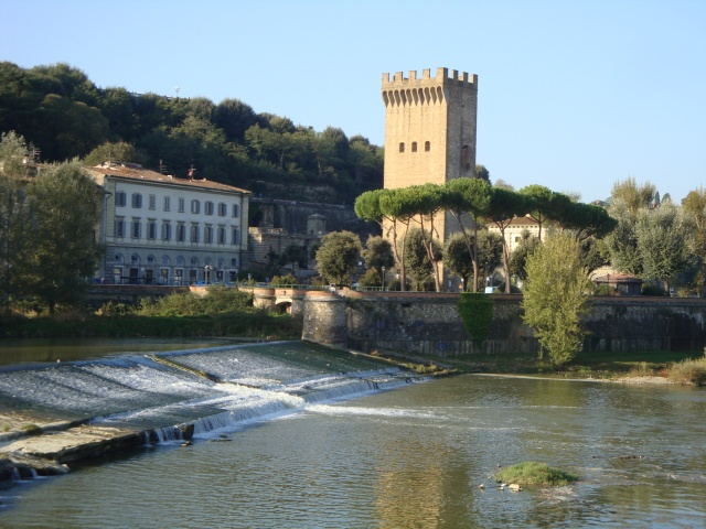 Starting point for our tour along the Arno river.