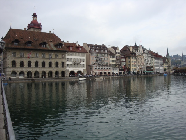 View of old Town Hall from bridge