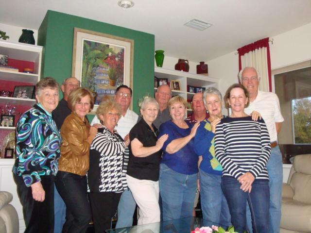Back row: John, Marvin, Bob, Virgil and Randy.  Front row: Elaine, Lorraine, Johanne, Mary, Jeannette, Sandy and Sally
