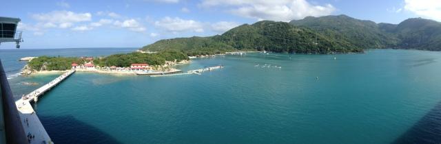 Panoramic view of Labadee, Haiti