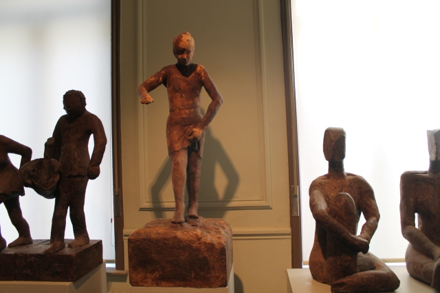 Life size chocolate sculptures