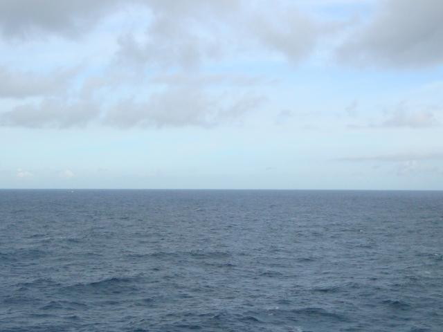 Blue skies, blue calm sea