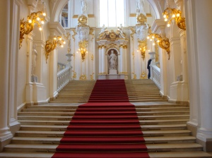 Beautiful staircase in the Hermitage