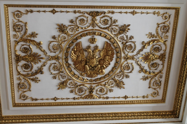 This ceiling was in the Great Throne Room the image was mirrored on the beautiful wood floor