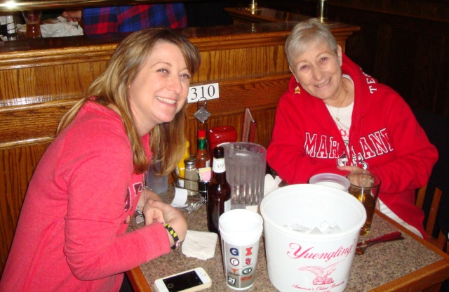 Kristine and I sharing a fun time during our annual 'March Madness' get together in Virginia