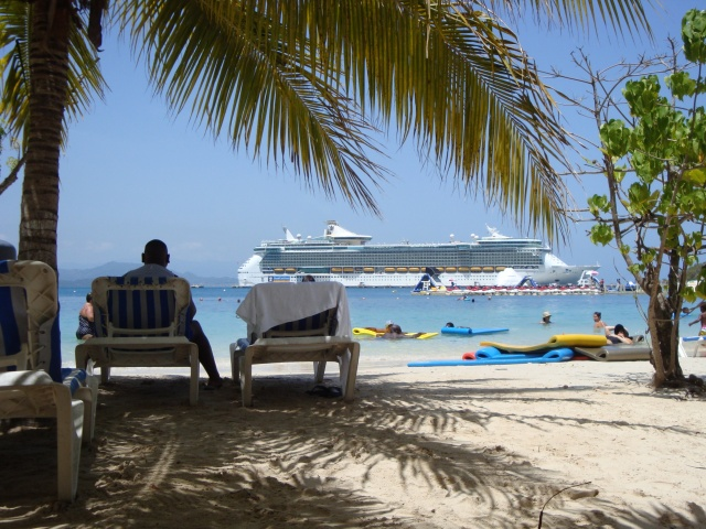 View of the ship from the vantage point of my wonderful lounge chair