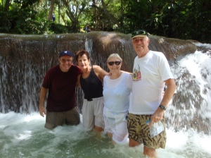 Climbing Dunns River Falls with friends John and Lorraine 2011.