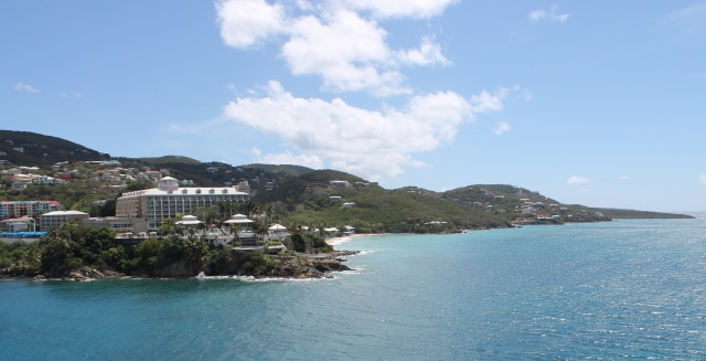 Entering the port at Charlotte Amalie, St. Thomas