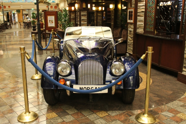 This beautiful model of the Morgan sits outside Vintages Wine Bar on the Royal Promenade