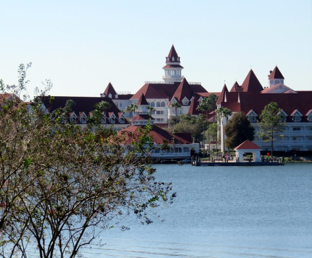 View of the Grand Floridian from the monorail.